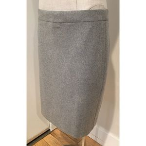 Gorgeous J Crew Gray Wool Classic Pencil Skirt